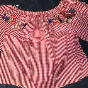 A red blouse